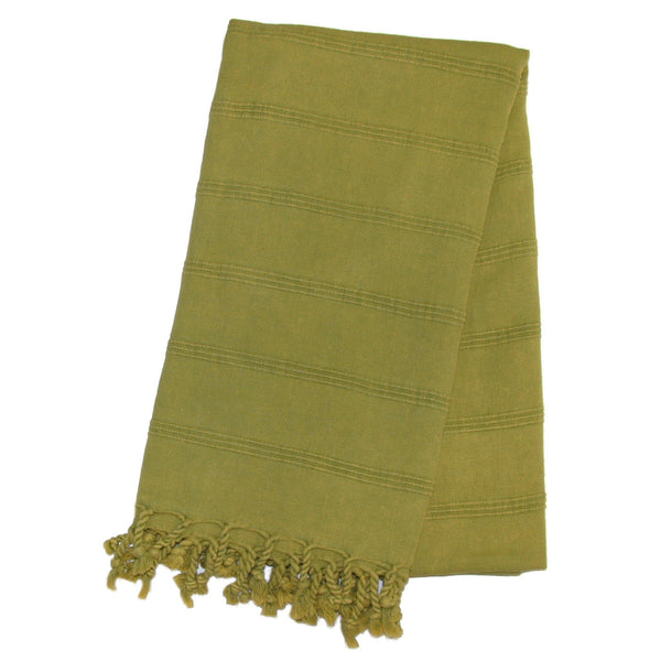 Stonewash Turkish Bath Towel - Pistachio | touchGOODS