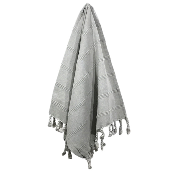 Stonewash Turkish Hand Towel - Grey