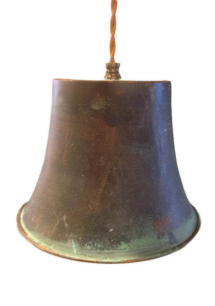 Patina Copper Bell Pendant - touchGOODS