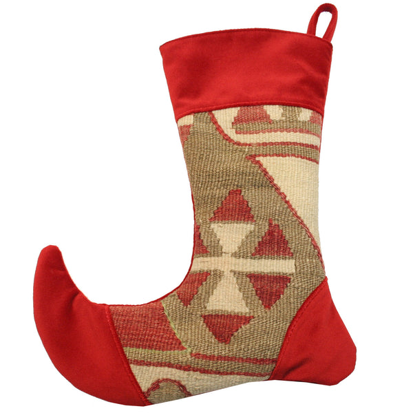 Victorian Style Vintage Kilim Christmas Stocking - Small | touchGOODS