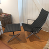 "Early ""Patent Pending"" Eames Aluminum Group Lounge With Ottoman 