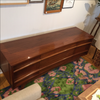 Vladimir Kagan Inspired Walnut Curved Credenza | touchGOODS