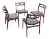 Danish Modern Teak Side Chairs - Set of 4 | touchGOODS