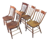 Set of 5 Early American Country Farm Dining Chairs | touchGOODS