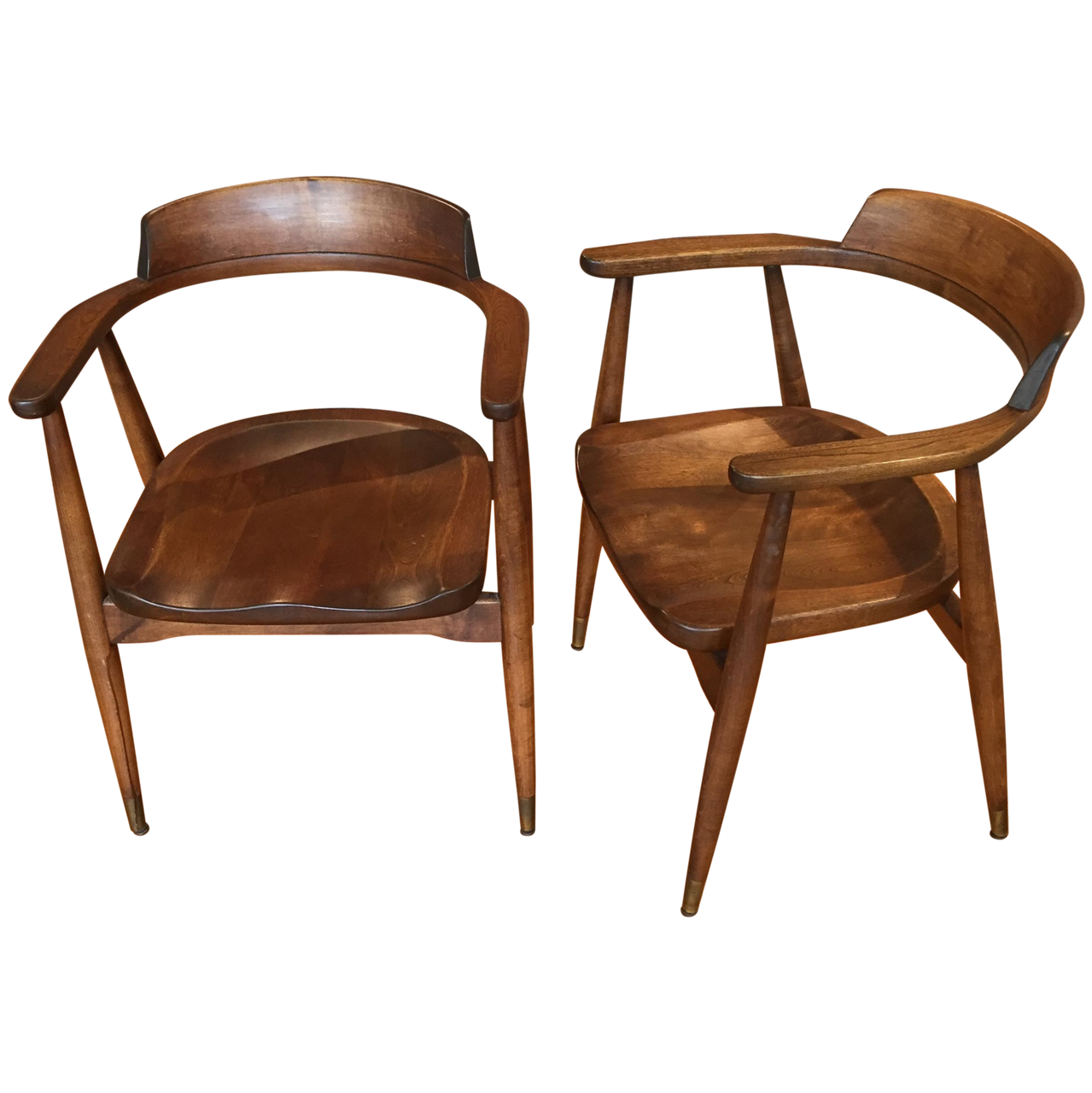 Mid-Century Captain's Chairs - A Pair - touchGOODS