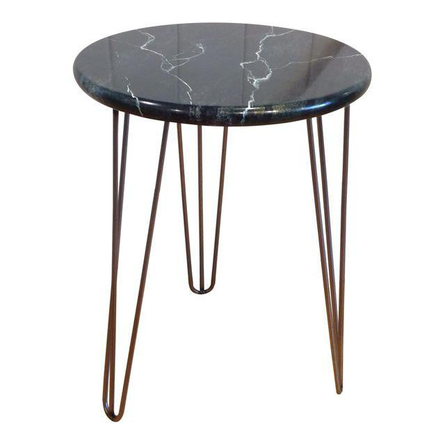 Hand Painted Faux Stone Side Table | touchGOODS