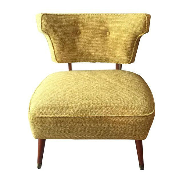 Vintage 1950s Yellow Slipper Chair - touchGOODS