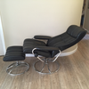Vintage Ekornes Stressless Black Leather Recliner - touchGOODS