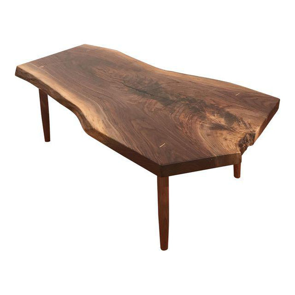 Custom Black Walnut Slab Coffee Table | touchGOODS