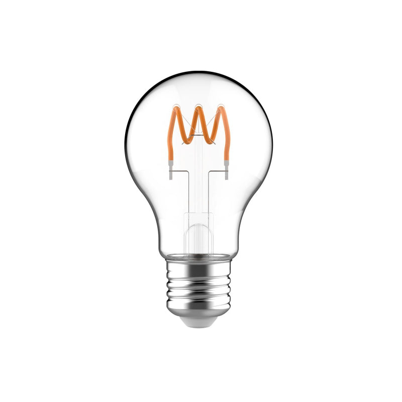 Classic Elegance Bulb - A19 (A60) Looping Filament - Clear Glass