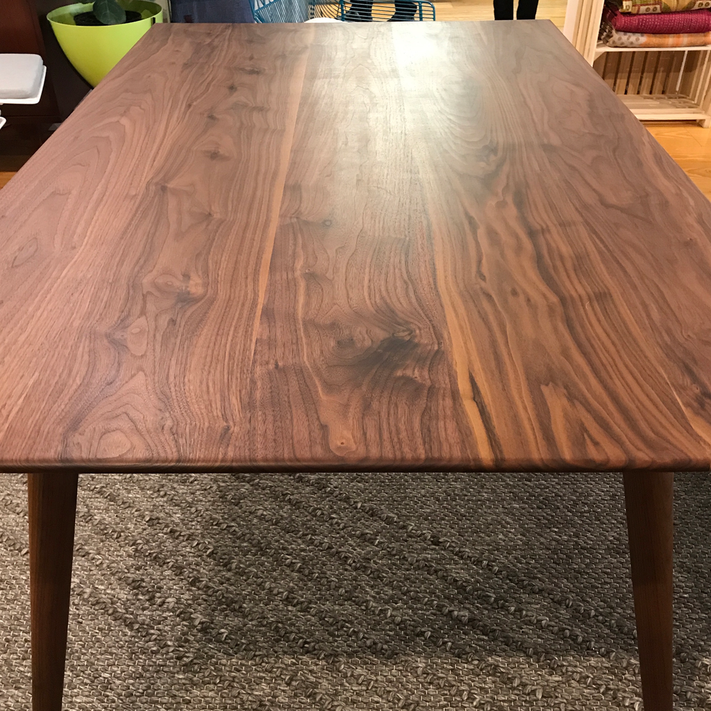 Custom Mid-Century Modern Black Walnut Dining Table | touchGOODS