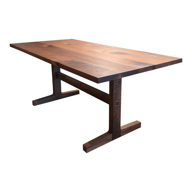 Custom Trestle Dining Table in Black Walnut - touchGOODS