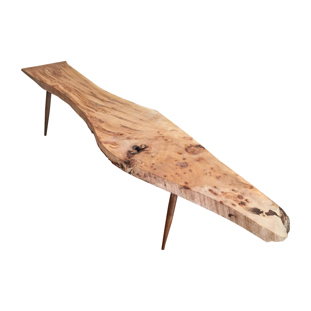 Live Edge Wood Slab Bench or Coffee Table - Ambrosia Maple | touchGOODS
