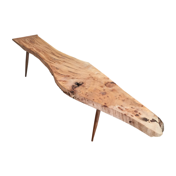 Live Edge Wood Slab Bench or Coffee Table - Ambrosia Maple - touchGOODS