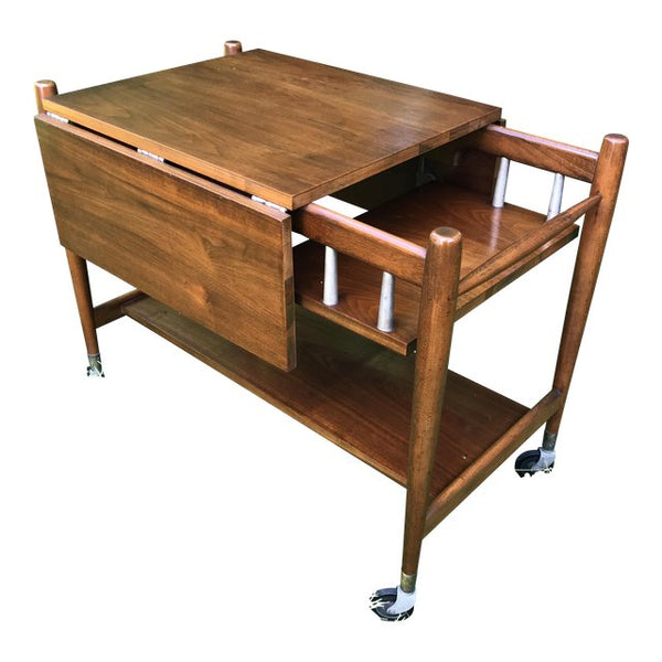 Danish Modern Drop Leaf Tea Trolley | touchGOODS