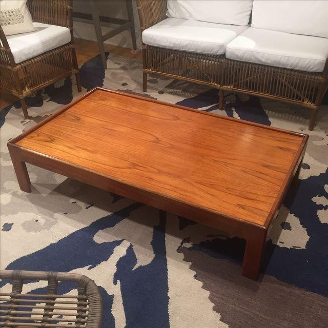 Low Mid-Century Walnut Coffee Table - touchGOODS