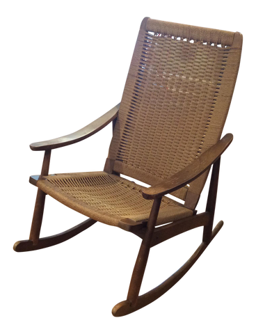 vintage midcentury rocking chair