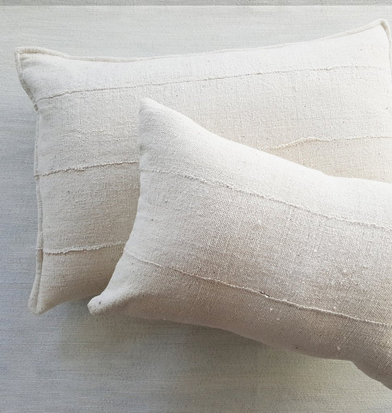 "Dogon Handwoven Neutral Pillow 14"" x 24"" - touchGOODS"