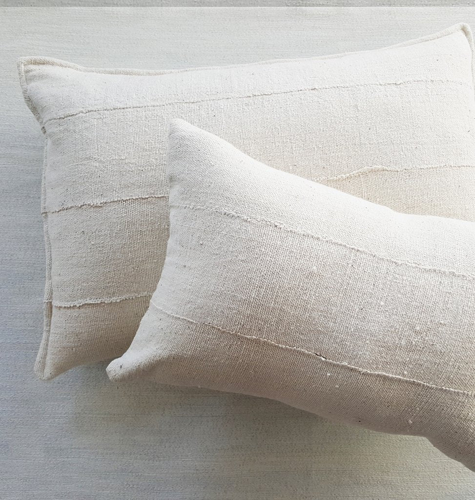 "Dogon Handwoven Neutral Pillow 24""sq 