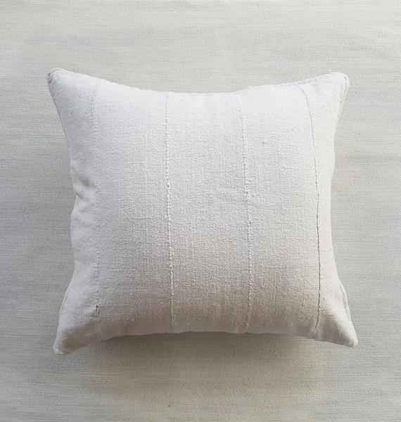"Dogon Handwoven Neutral Pillow 18""sq 