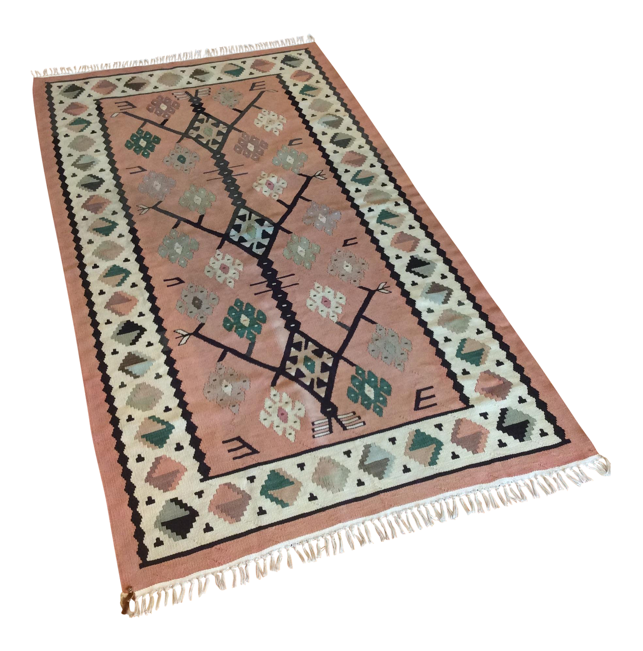 Vintage Turkish Handwoven Kilim Runner 2′8″ × 5′3″ | touchGOODS