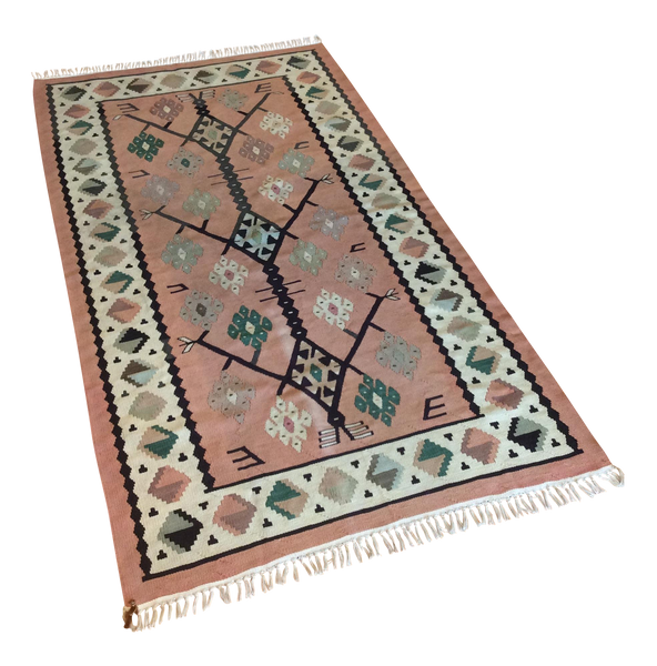 Vintage Turkish Handwoven Kilim Runner 2′8″ × 5′3″ - touchGOODS