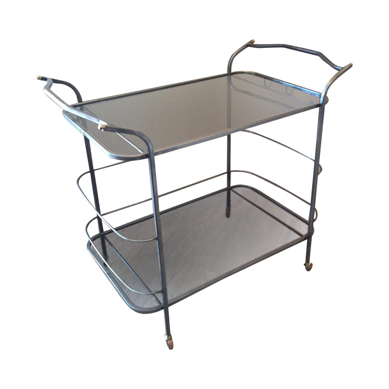 Vintage Hand-Wrought Iron Bar Cart | touchGOODS