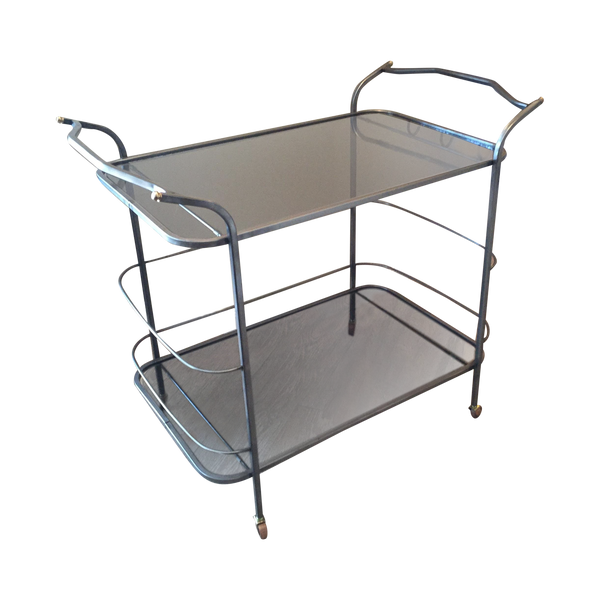 Vintage Hand-Wrought Iron Bar Cart - touchGOODS