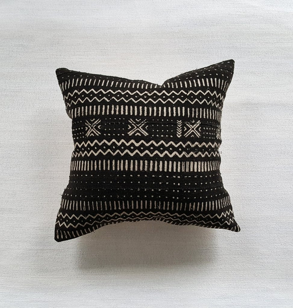 EBONY mudcloth throw pillow | touchGOODS