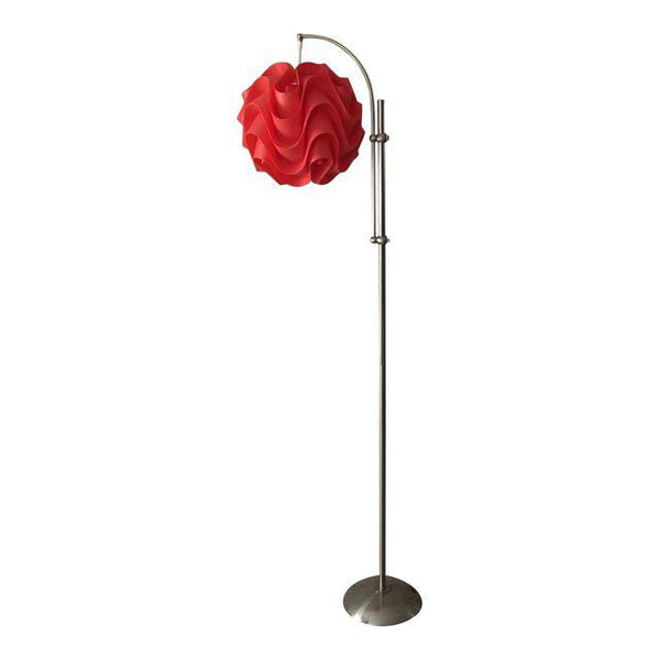 Watermelon Pink Plastic Puzzle Shade Floor Lamp