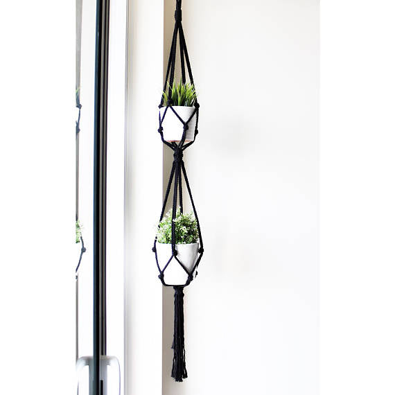 Double Tier Macrame Plant Hanger - touchGOODS