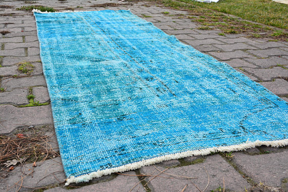 Vintage Over Dyed Turkish Runner 29″ × 92″ | touchGOODS