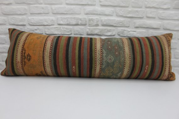 Extra Long Kilim Lumbar Pillow 16 x 48 - touchGOODS