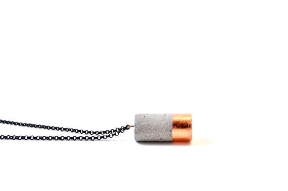 Studio Corbelle Cylinder Concrete Necklace - touchGOODS