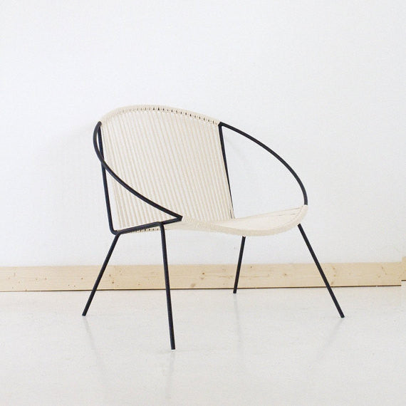 Hand-Welded Woven Hoop Circle Chair - touchGOODS