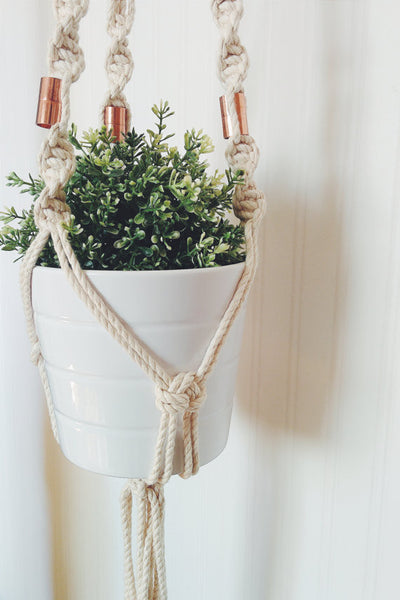 Macrame Plant Hanger with Copper | touchGOODS