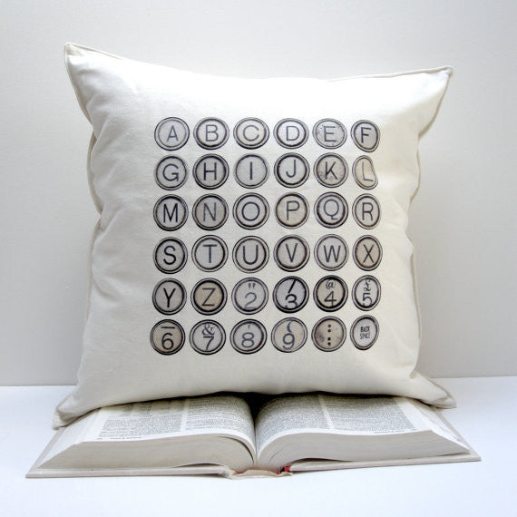square typewriter pillow by pi'lo studio - touchGOODS