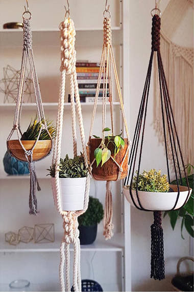 Chunky Natural Macrame Plant Hanger - touchGOODS