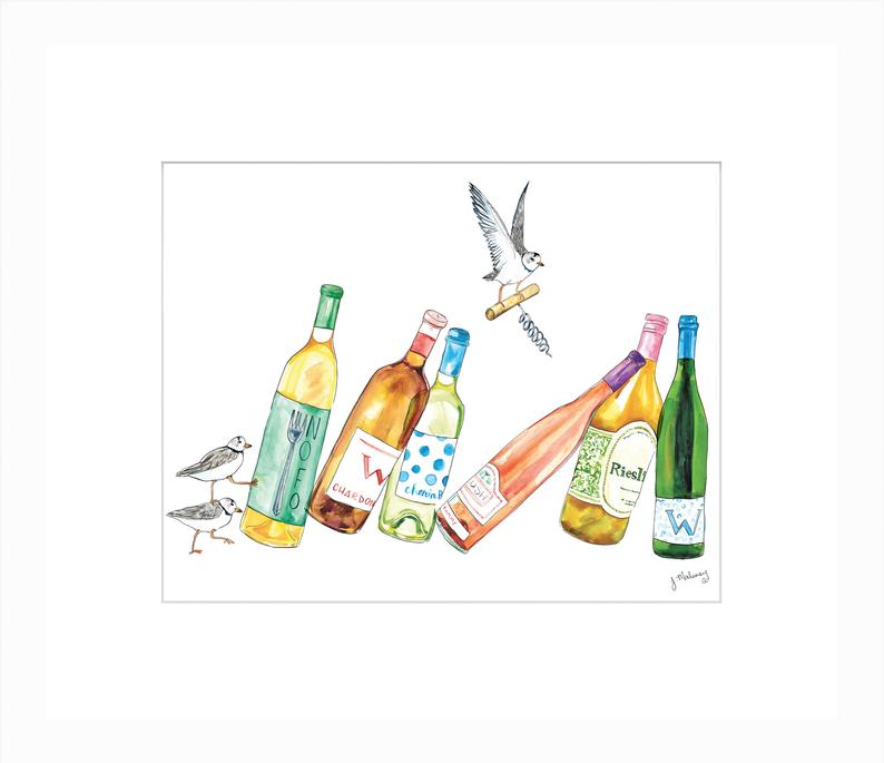 Wine Dominos Watercolor by Jackie Maloney | touchGOODS