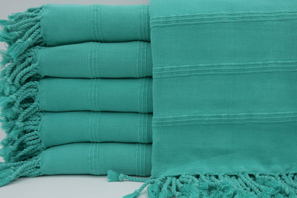 Stone Washed Turkish Bath Towel ~ Teal | touchGOODS