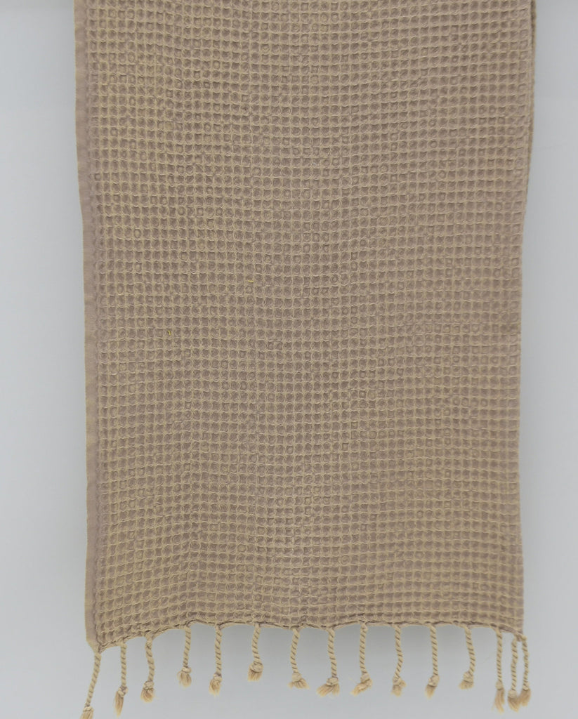 Stone Washed Turkish Waffle Hand Towel ~ Beige | touchGOODS
