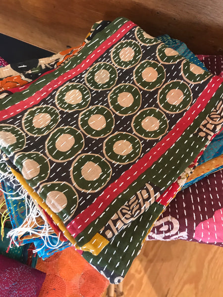 Assorted Vintage Cotton Kantha Scarves - touchGOODS