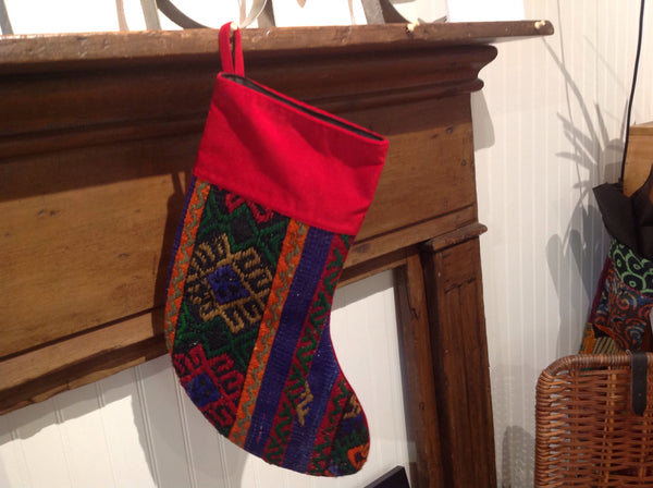 Vintage Kilim Christmas Stocking