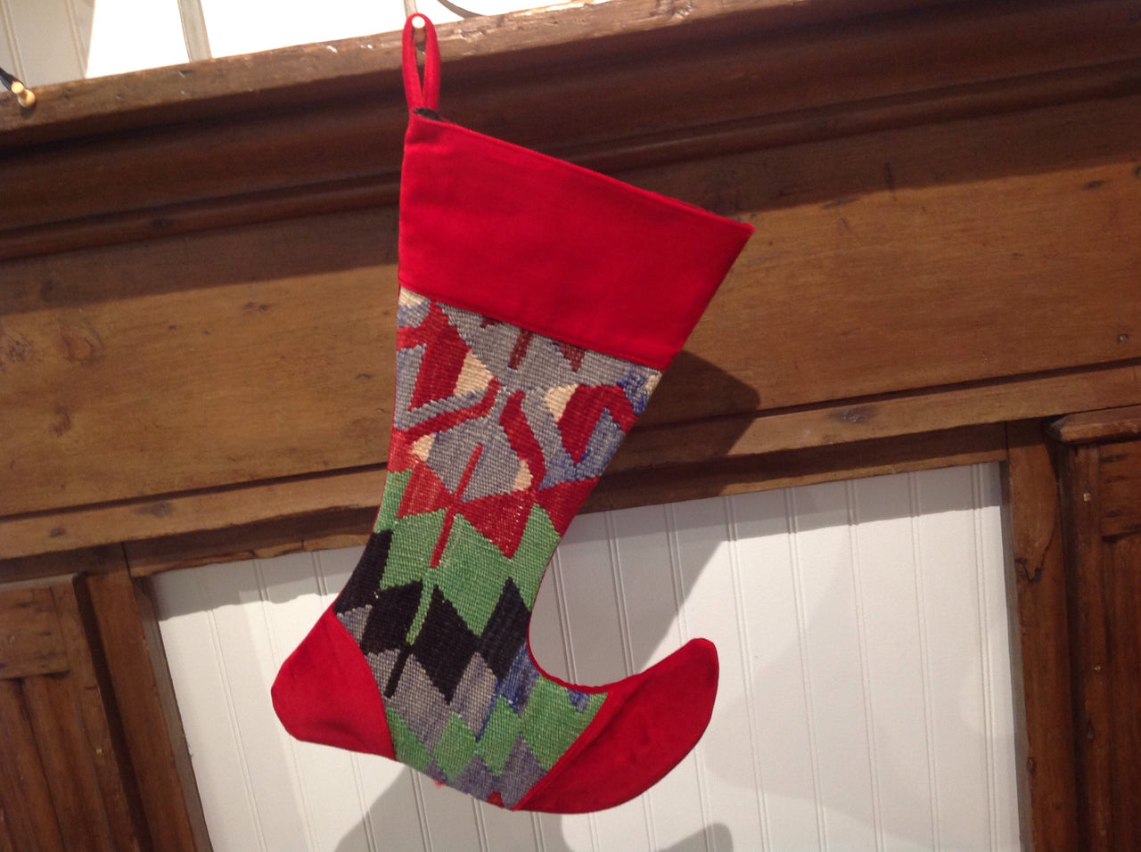 Victorian Style Vintage Kilim Christmas Stocking - Large | touchGOODS