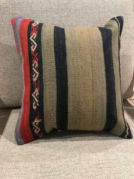 "Vintage Kilim Pillow 14"" Sq"