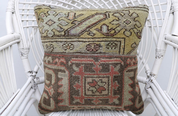 Decorative Turkish Patchwork Kilim Throw Pillow - touchGOODS