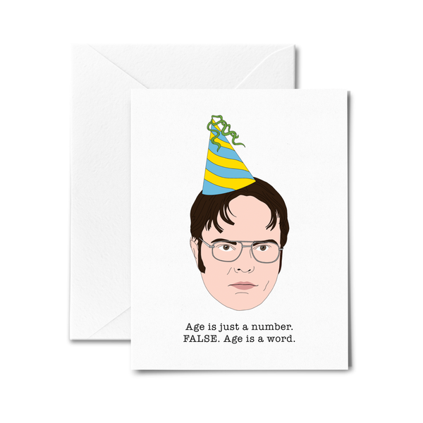 Dwight Schrute Birthday Card- Age is Just a Number