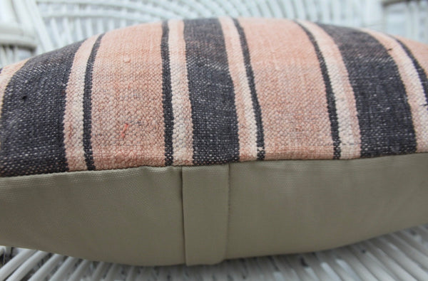 Decorative Turkish Striped Kilim Throw Pillow - touchGOODS