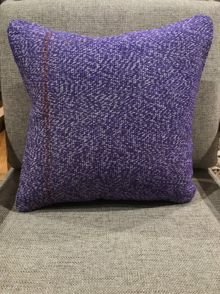 "Lavender Kilim Pillow 16"" Square"