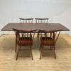 Mid-Century Modern American Nakashima Studio Craft Solid Walnut Dining Set - 5 Pieces | touchGOODS